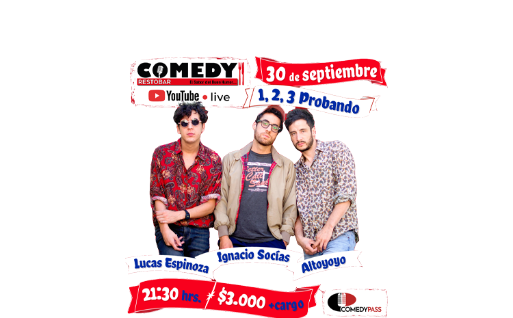 1, 2, 3 Probando – Comedy Online